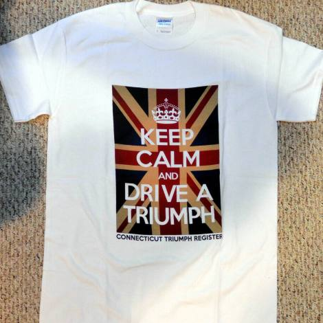 White Keep Calm Triumph Tee