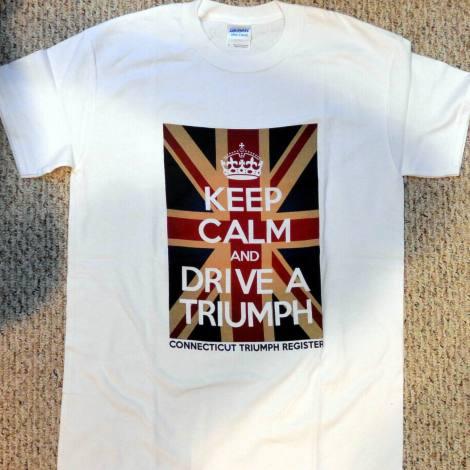 White Keep Calm Triumph Tee