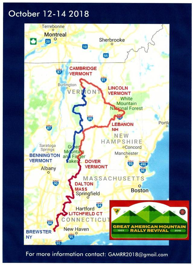 CTR Great Americam Mtn rally map