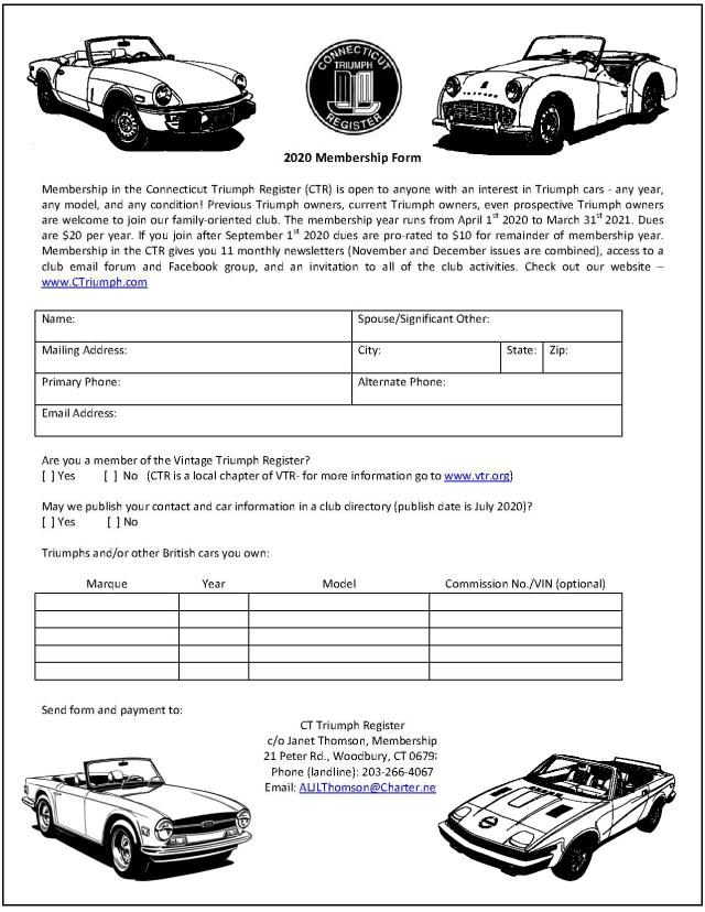 AAA Membership form 2020 3