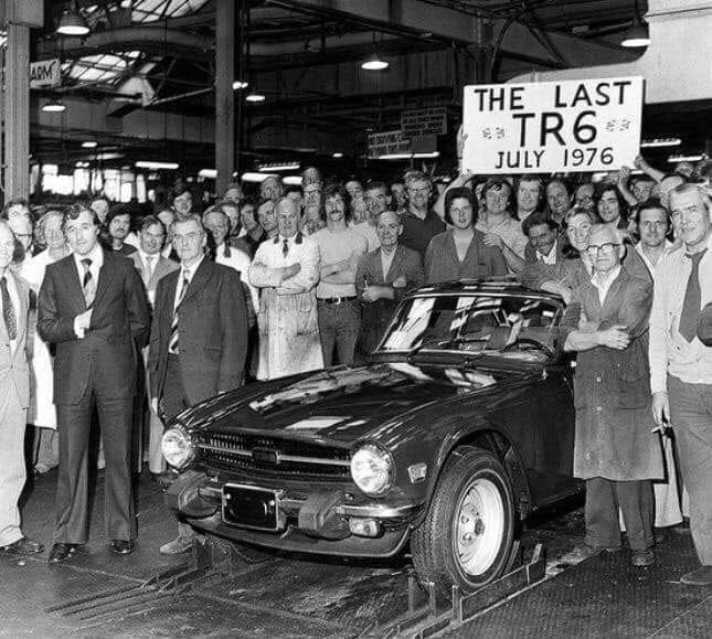 Last TR6 - 1976