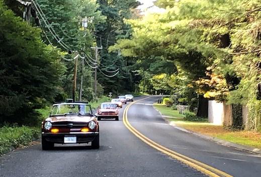 CTR 2020 run - 3 Under way on quiet leafy roads