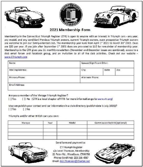 CTR Membership Form 2021B